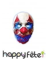 Masque LED de clown terrifiant pour adulte