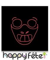 Masque LED de Hannibal lecter pour adulte, image 1