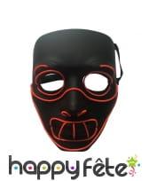Masque LED de Hannibal lecter pour adulte
