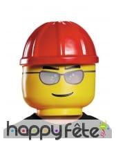 Masque Légo d'ouvrier pour enfant