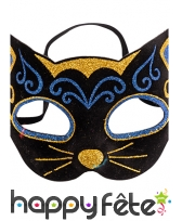 Masque loup de chat avec motifs bleu