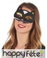 Masque loup de chat noir