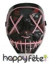 Masque led rose de Halloween pour adulte, image 1