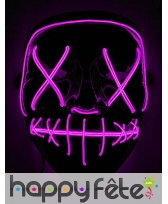 Masque led rose de Halloween pour adulte