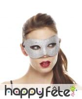Masque loup recouvert de paillettes, image 1