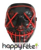 Masque lumineux rouge de Halloween pour adulte, image 1