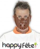 Masque marron de hannibal lecter