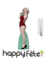 Marilyn Monroe en maillot rouge, carton plat