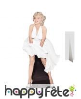 Marilyn Monroe en robe blanche, carton plat