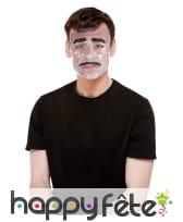 Masque moustachu transparent pour homme