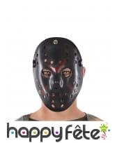 Masque noir de joueur de hockey tueur pour adulte