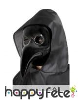 Masque noir docteur de la peste, authentique