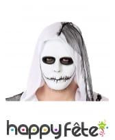 Masque noir et blanc avec bouche scellée, adulte