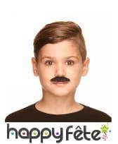 Moustache noire pour enfant adhésive