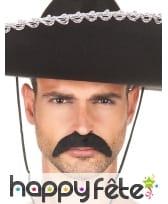 Moustache noire tombante