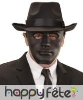 Masque noir uni de visage