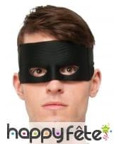 Masque noir uni de Zorro pour enfant