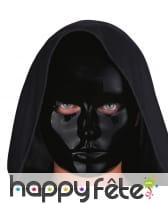 Masque noir uni facial