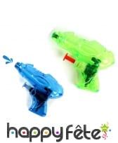 Mini pistolet à eau transparent de 9cm