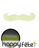 Moustache phosphorescente adhésive