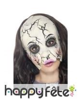 Masque poupée de porcelaine brisée