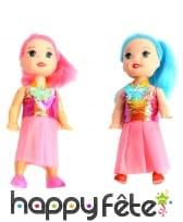 Mini poupée mode, 10cm