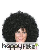 Mega perruque noire afro, image 1