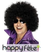 Mega perruque noire afro