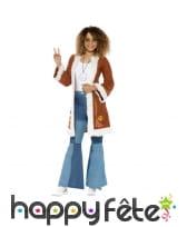 Manteau rétro afghan hippie pour femme