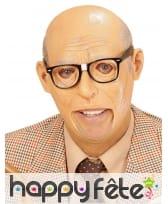 Masque ridé de vieil homme dégarni