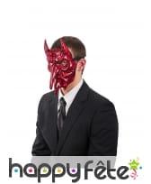 Masque rouge et noir de Satan pour adulte