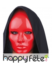 Masque rouge uni facial
