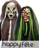 Masque souple complet et cheveux pour halloween