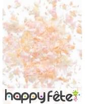 Mini sachet confettis ignifugé couleur pêche