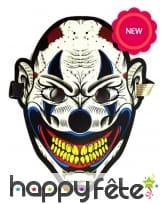 Masque sonore de clown démoniaque pour adulte