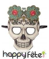 Masque squelette Dia de los muertos en tissu, image 1