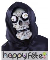 Masque squelette effrayant avec yeux globuleux