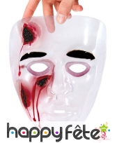 Masque transparent avec blessures en sang, image 1