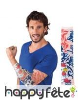 Manche tatouage de supporter Allez les Bleus