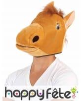 Masque tête de cheval marron pour adulte, image 1
