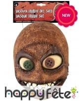 Masque tête de poupée rapiécée, en latex, image 2
