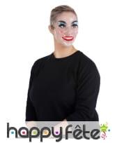 Masque transparent maquillé pour femme, image 1