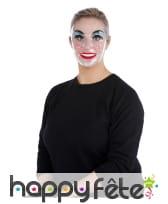 Masque transparent maquillé pour femme
