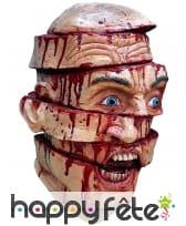 Masque tête tranchée en petits morceaux
