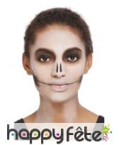 Maquillage visage Dia de los muertos multicolore, image 1