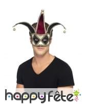 Masque vénitien d'Arlequin sinistre