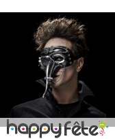 Masque vénitien futuriste effet métal