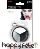 Maquillage vampire gris noir blanc, image 1