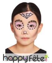 Maquillage visage Le jour des morts pour enfant, image 3