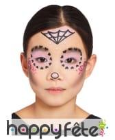 Maquillage visage Le jour des morts pour enfant, image 4